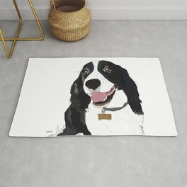 English Springer spaniel dog b/w Rug