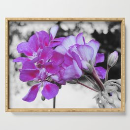 fuchsia flOWERS Pop of Color Serving Tray