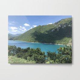 Beautiful Nature With Sea View Metal Print