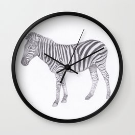 Zebra Pencil Drawing Wall Clock