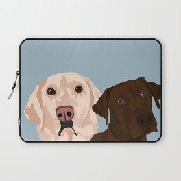 2 Labradors Laptop Sleeve