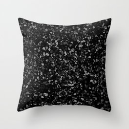 Black Stone Smashed pieces Throw Pillow