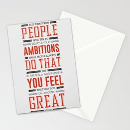 Lab No. 4 Keep Away From People Mark Twain Inspirational Quote Stationery Cards
