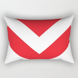 Red Arrow Down Rectangular Pillow