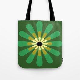 Green Flower Decor design Tote Bag