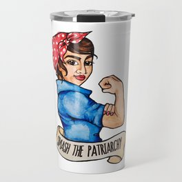Smash the Patriarchy Rosie the Riveter Travel Mug