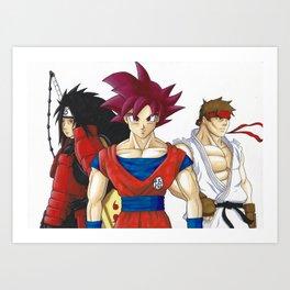 Anime trio Art Print