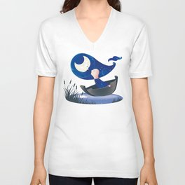 Moon lover Unisex V-Neck