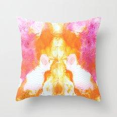 Orange Wings Throw Pillow