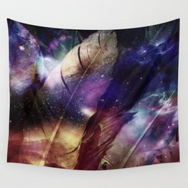 feathers in space Wall Tapestry