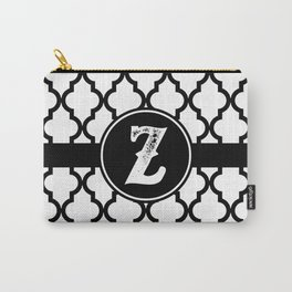 Black Monogram: Letter Z Carry-All Pouch