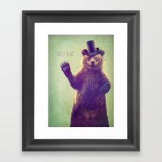 Hello Bear Framed Art Print