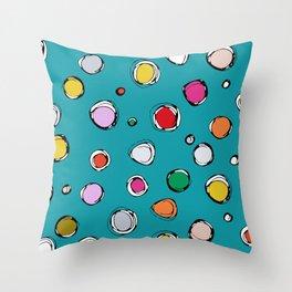 wilderdot blue Throw Pillow