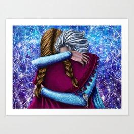 Anna and Elsa ~Frozen Art Print
