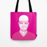 walter white Tote Bags featuring Walter White by Ron Chan