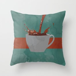 Caffeine splash Throw Pillow