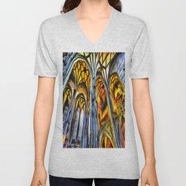Vienna Cathedral Vincent Van Gogh Unisex V-Neck