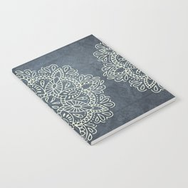 Mandala Vintage Ivory Blue Notebook