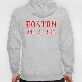 Boston 24-7-365 Shirt For Boston Baseball Fans Hoody