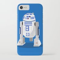 r2d2 iPhone & iPod Cases featuring R2D2 by Karen Mercado