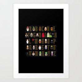 St_ar Wars Alphabet 3 Art Print
