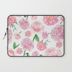 Watercolor Peonies Laptop Sleeve