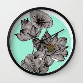 Lotus in my Pond Wall Clock