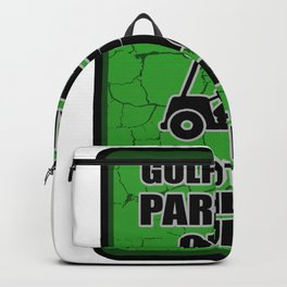 Golf cart parking only violators will be clubbed Golfer Gift Backpack