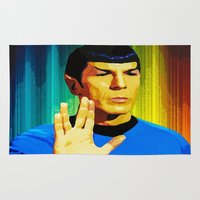 spock Area & Throw Rugs featuring Spock by The Art Of Gem Starr