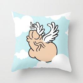 Winged Chub Throw Pillow