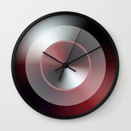 Serene Simple Hub Cap in Red Wall Clock