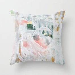 Emerging Abstact Throw Pillow