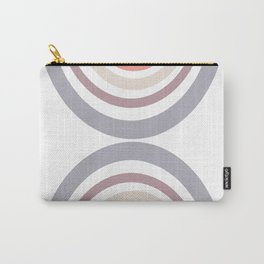 Modern Double Rainbow Hourglass in Muted Earth Tones Carry-All Pouch