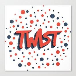 Twist N.2 Modele Rond Canvas Print