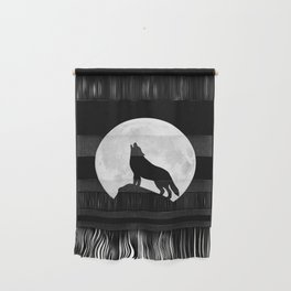 Howling Wolf - Moon Wall Hanging