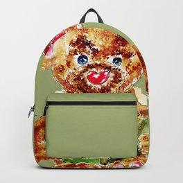 Painted Teddy Bear Backpack