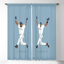 Home Run Celebration Blackout Curtain