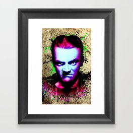 James Cagney, angry Framed Art Print