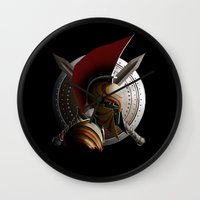 warrior Wall Clocks featuring Warrior by Det Tidkun