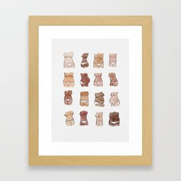 Hello, girls! // Boobs and butts Framed Art Print