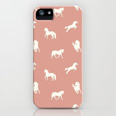 Horse Print (Warm Taupe) Slim Case iPhone (5, 5s)