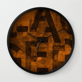 Lager Beer Typography Wall Clock