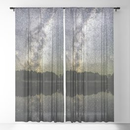 Henry Lake New Zealand Under Southern Hemisphere Skies By Olena Art Sheer Curtain