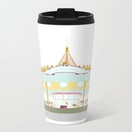 Carousel - white background Travel Mug