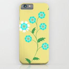 Knapweed, centaury, centory flowers iPhone Case