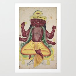 Ravana - 19th Century Classical Hindu Art Art Print