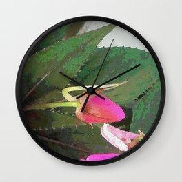 Hot Pink Wall Clock