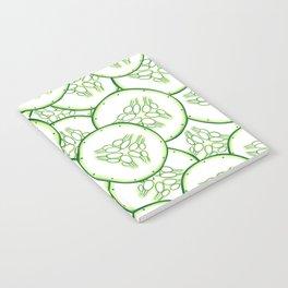 Cucumber slices pattern design Notebook