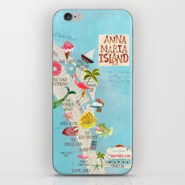 Anna Maria Island Map iPhone Skin