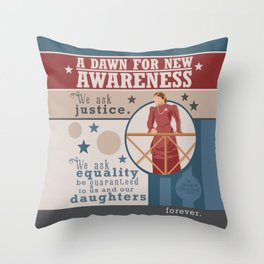 A Dawn for New Awareness Throw Pillow